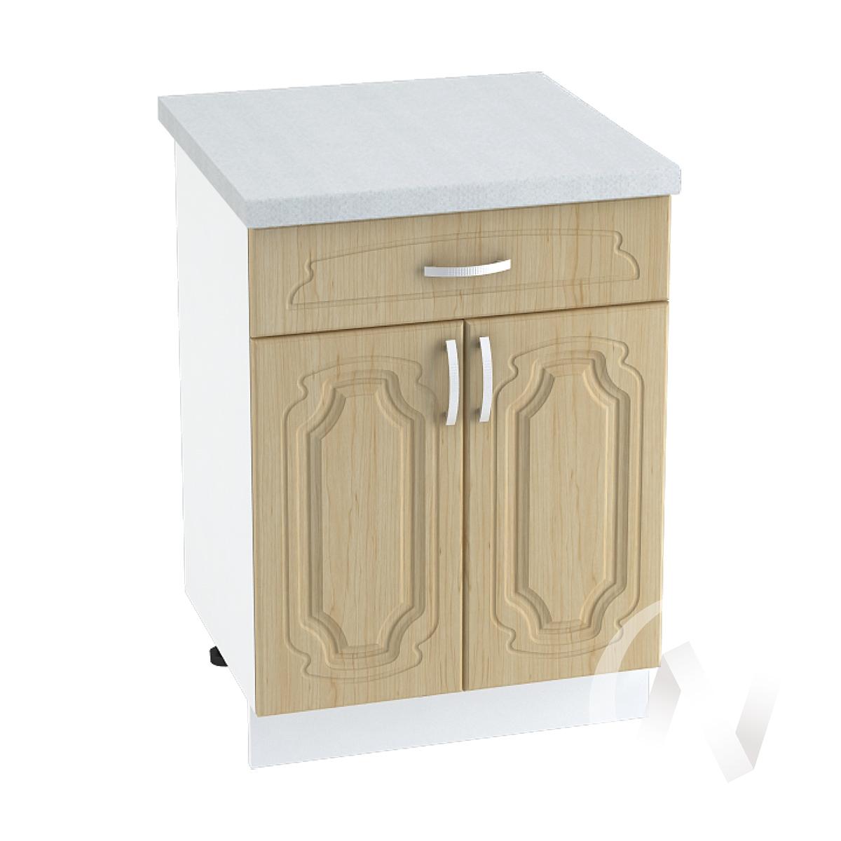 """Кухня """"Настя"""": Шкаф нижний с ящиком 600, ШН1Я 600 (Береза/корпус белый)"""