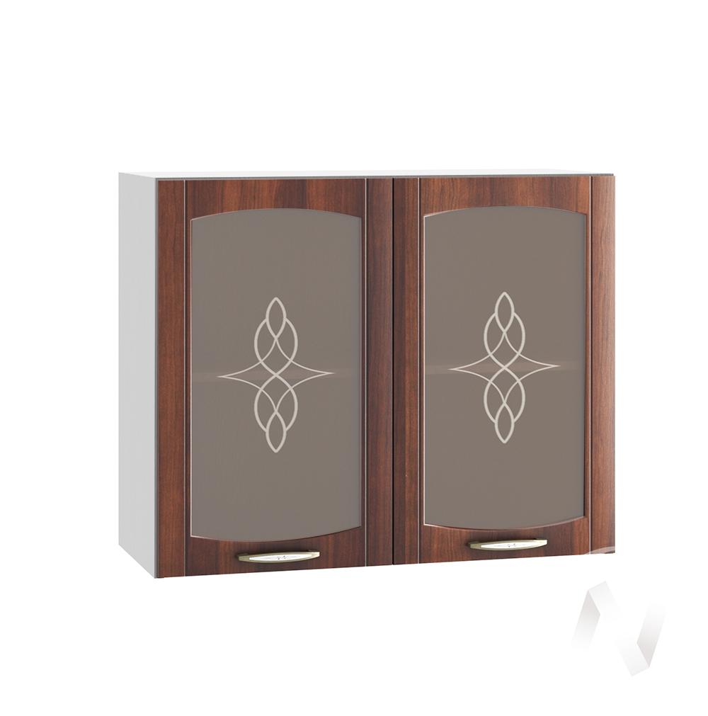 """Кухня """"Неаполь"""": Шкаф верхний со стеклом 800, ШВС 800 (Италия/корпус белый)"""
