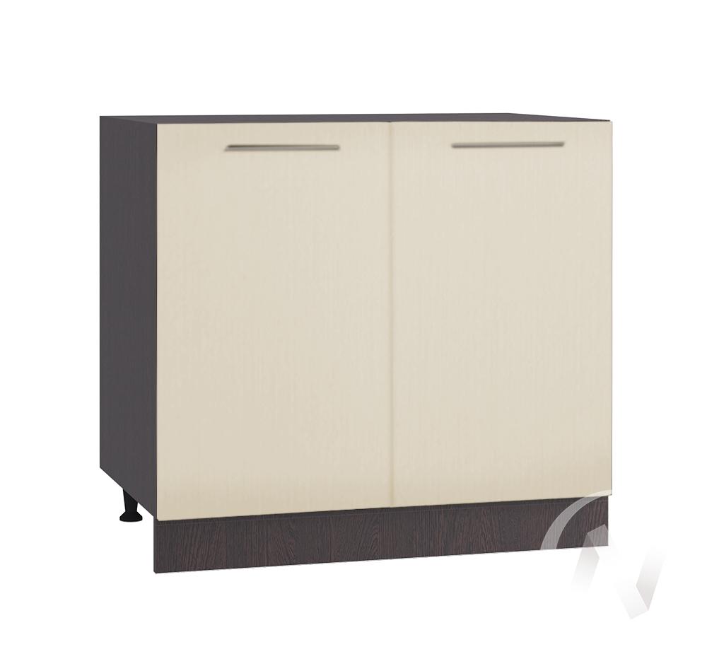 """Кухня """"Люкс"""": Шкаф нижний 800, ШН 800 (Шелк жемчуг/корпус венге)"""
