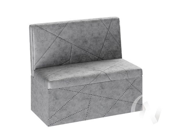 Скамья прямая Сидней ткань (ателье/серый)