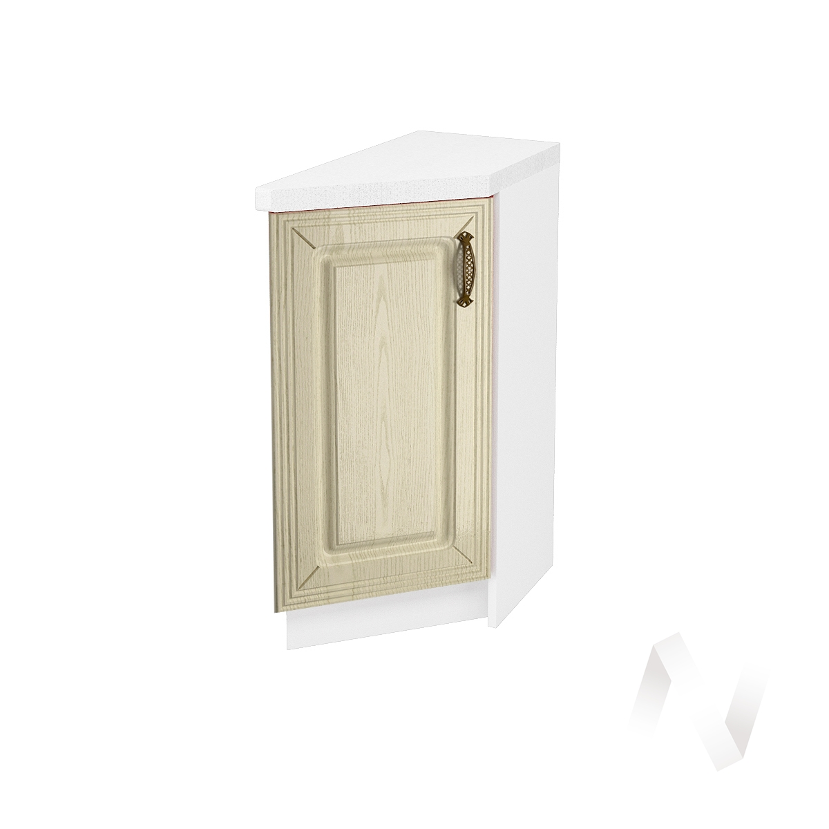 """Кухня """"Изабель"""": Шкаф нижний торцевой 300, ШНТ 300 (корпус белый)"""