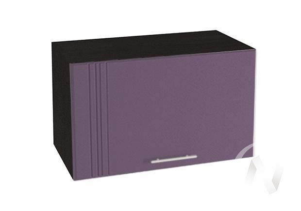"""Кухня """"Струна"""": Шкаф верхний горизонтальный 600, ШВГ 600 (фиолетовый металлик/корпус венге)"""