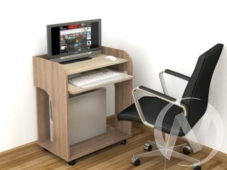 Стол компьютерный Грета-10 (ясень шимо/дуб сонома)