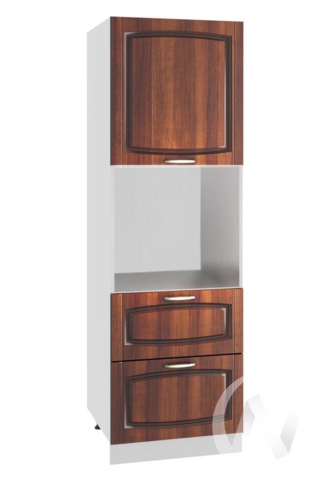 """Кухня """"Неаполь"""": Шкаф пенал с 2-мя ящиками 600, ШП2Я 600 (Италия/корпус белый)"""