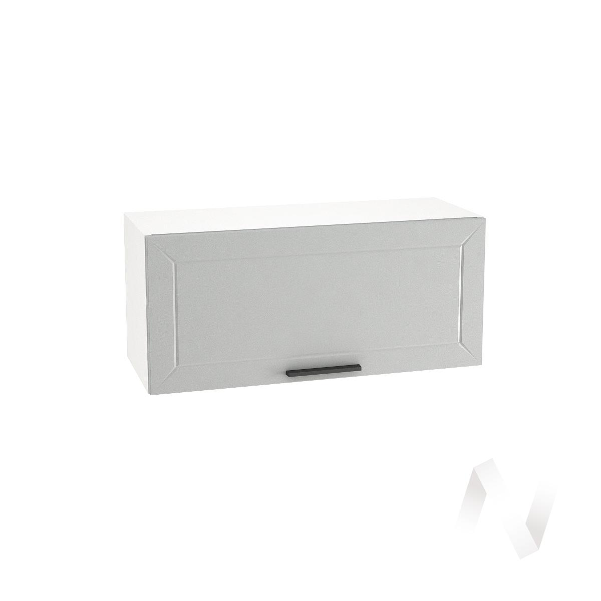"""Кухня """"Глетчер"""": Шкаф верхний горизонтальный 800, ШВГ 800 (Гейнсборо Силк/корпус белый)"""