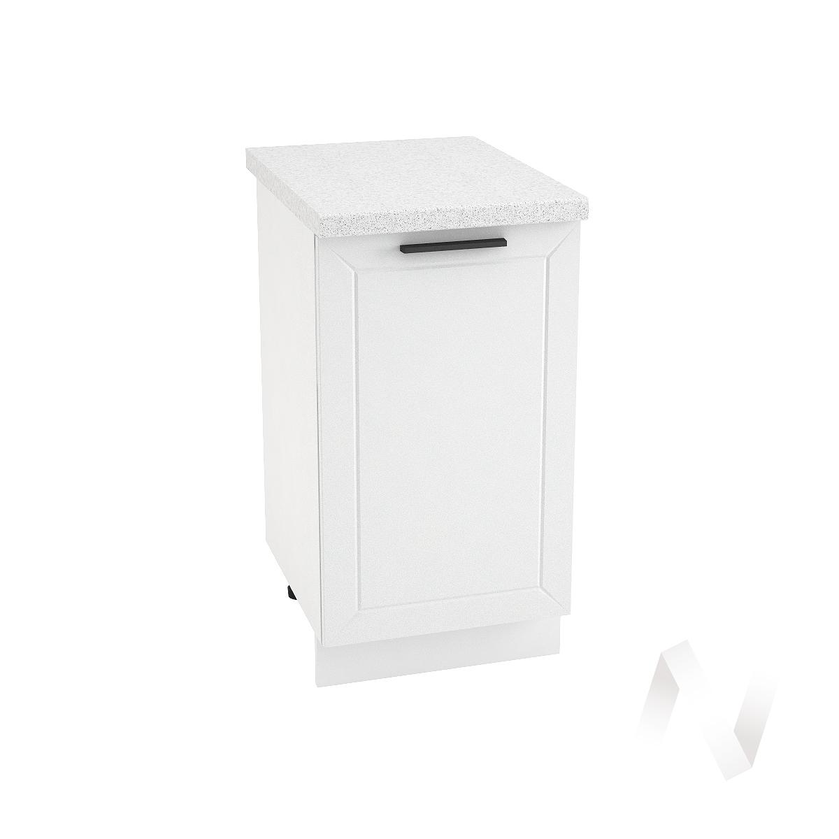 """Кухня """"Глетчер"""": Шкаф нижний 450, ШН 450 (Айленд Силк/корпус белый)"""