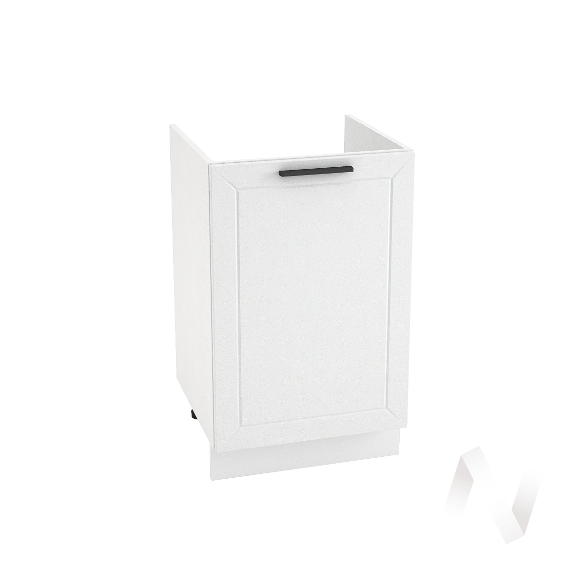 "Кухня ""Глетчер"": Шкаф нижний под мойку 500, ШНМ 500 (Айленд Силк/корпус белый)"