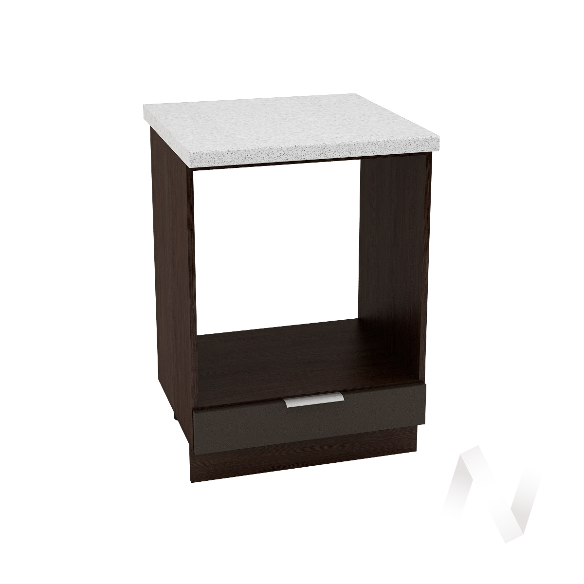 """Кухня """"Терра"""": Шкаф нижний под духовку 600, ШНД 600 (смоки софт/корпус венге)"""