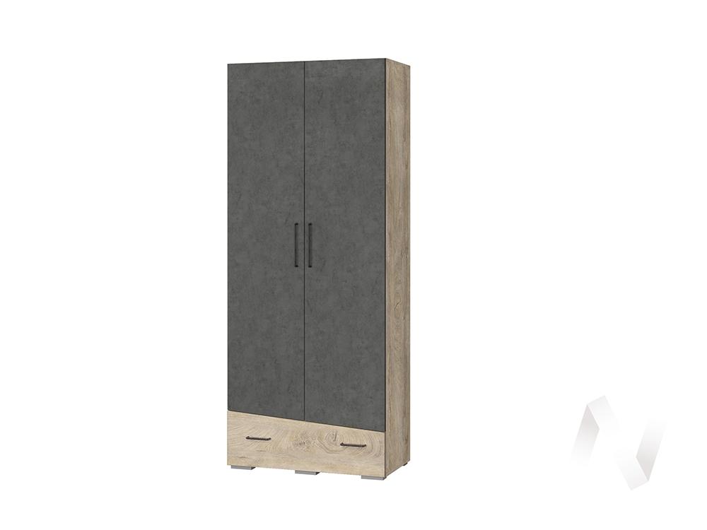 Шкаф универсальный Гостиная Паскаль (дуб эндгрейн/темный бетон/дуб эндгрейн)
