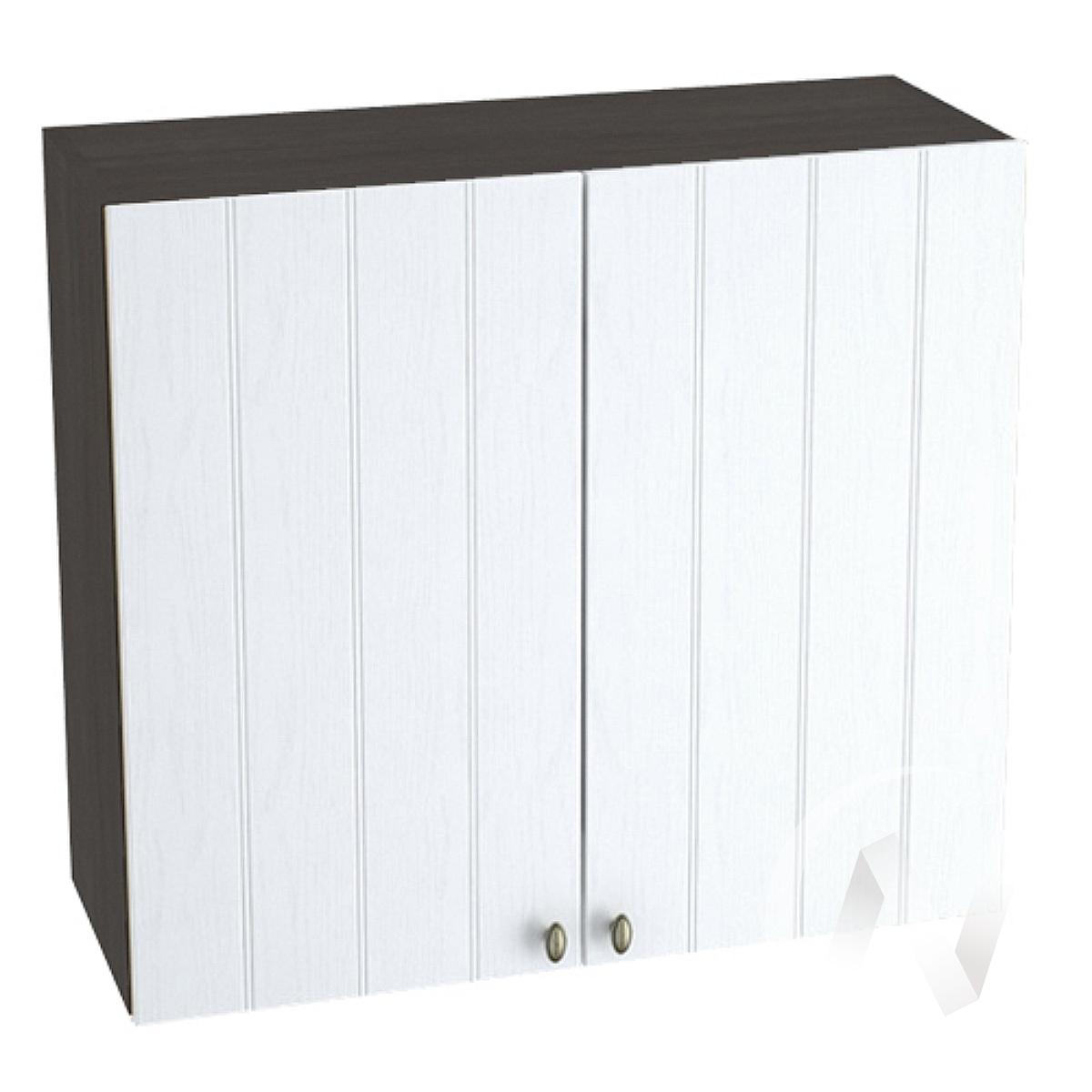 """Кухня """"Прованс"""": Шкаф верхний 800, ШВ 800 (белое дерево/корпус венге) в Томске — авторская мебель Экостиль"""