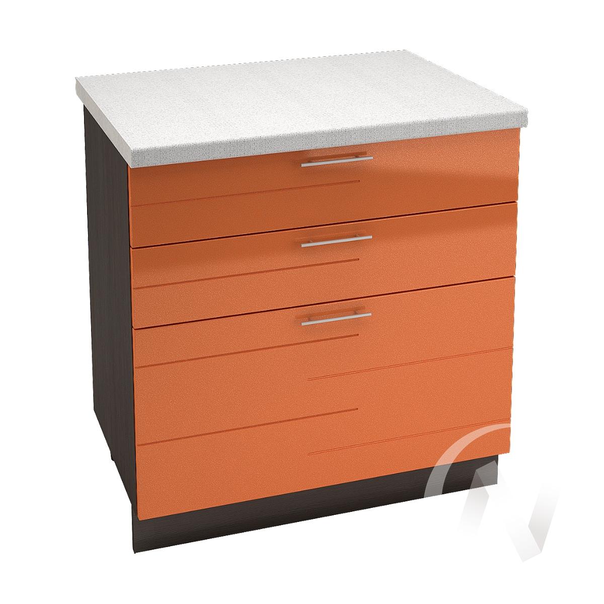 """Кухня """"Техно"""": Шкаф нижний с 3-мя ящиками 800, ШН3Я 800 (корпус венге)"""
