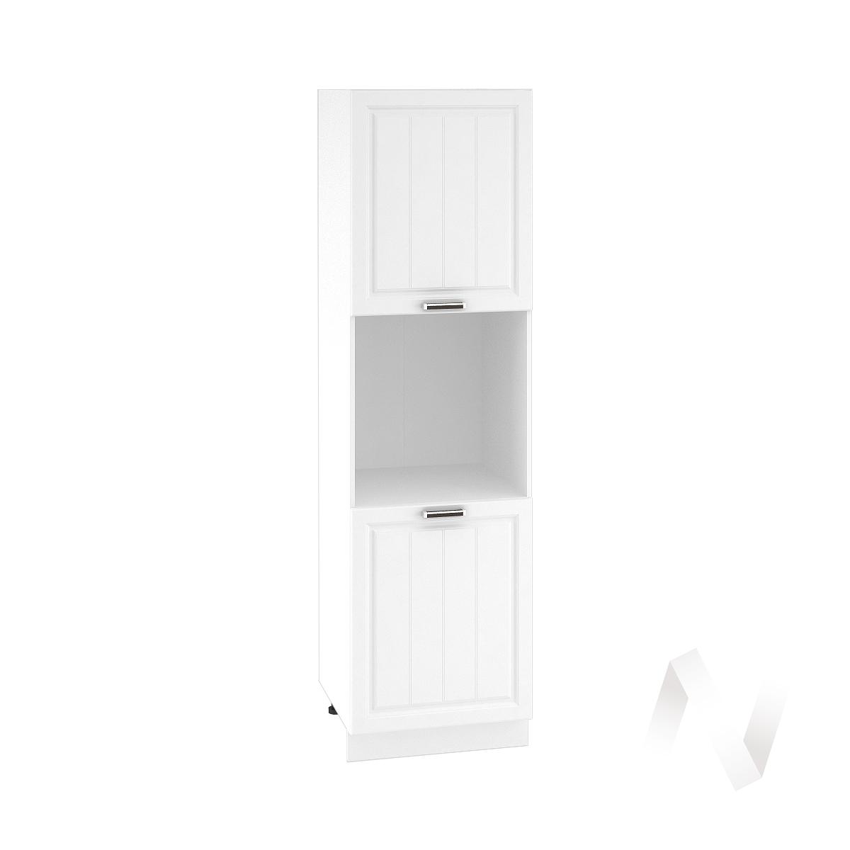 "Кухня ""Прага"": Шкаф пенал 600, ШП 600 (белое дерево/корпус белый)"