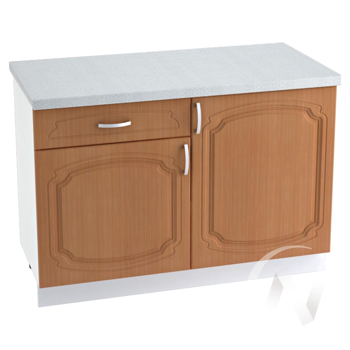 """Кухня """"Настя"""": Шкаф нижний с ящиком 1200, ШН1Я 1200 (Орех миланский/корпус белый)"""