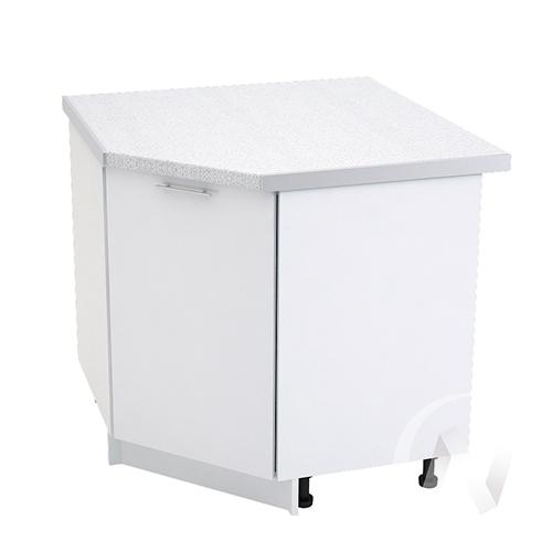 "Кухня ""Валерия-М"": Шкаф нижний угловой 890, ШНУ 890 (белый металлик/корпус белый)"
