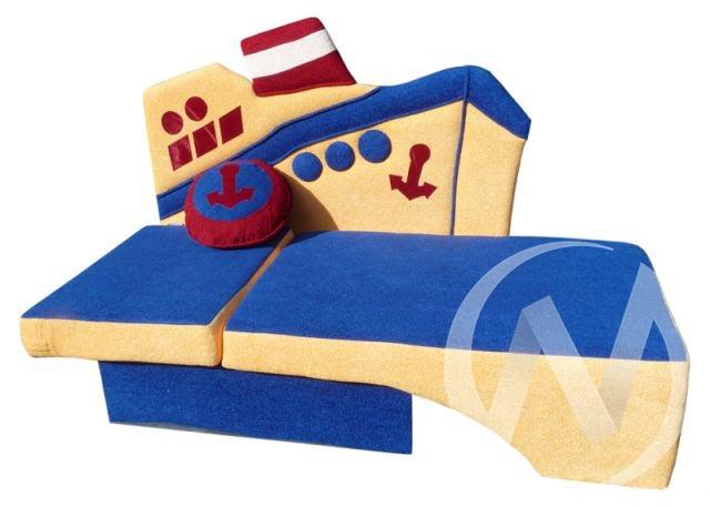 Пароходик диван детский правый  в Томске — интернет магазин МИРА-мебель