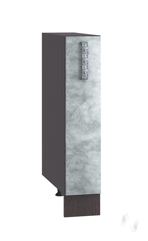 "Кухня ""Лофт"": Шкаф нижний бутылочница 150, ШНБ 150 (Бетон серый/корпус венге)"