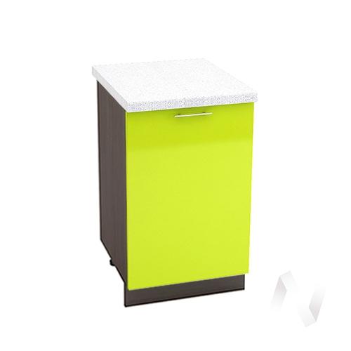 "Кухня ""Валерия-М"": Шкаф нижний 500, ШН 500 (лайм глянец/корпус венге)"