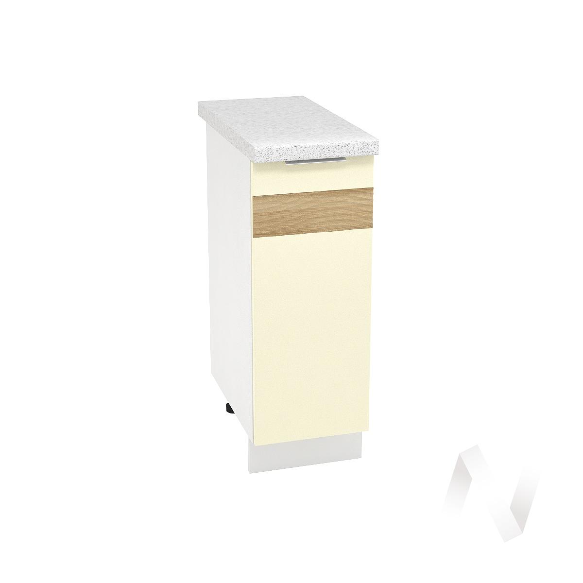 """Кухня """"Терра"""": Шкаф нижний левый 300, ШН 300 (ваниль софт/ель карпатская/корпус белый)"""