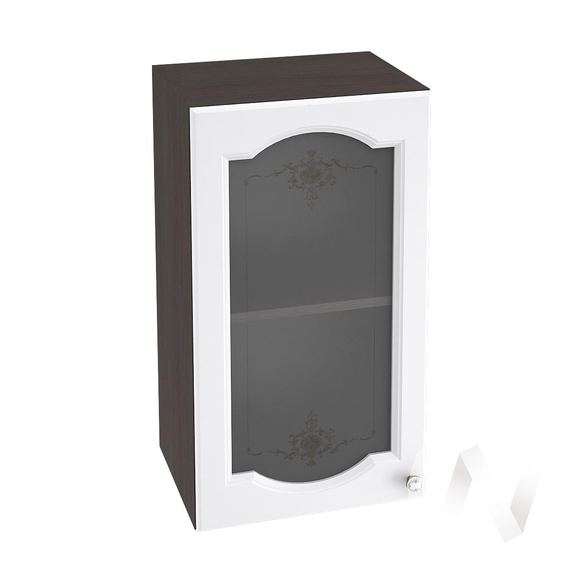 """Кухня """"Шарлиз"""": Шкаф верхний со стеклом 400, ШВС 400 (корпус венге)"""