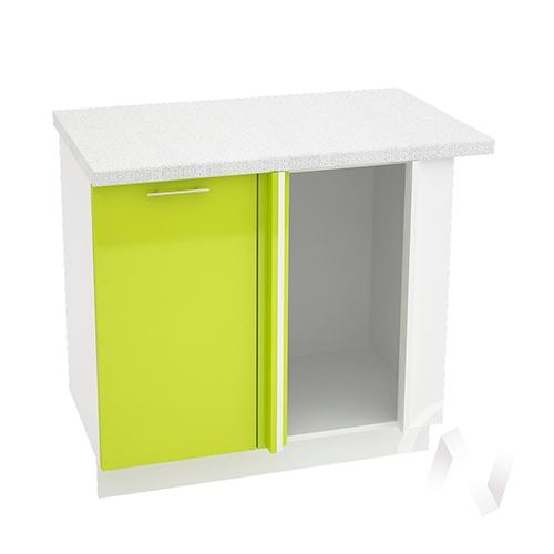 "Кухня ""Валерия-М"": Шкаф нижний угловой 990М, ШНУ 990М (лайм глянец/корпус белый)"