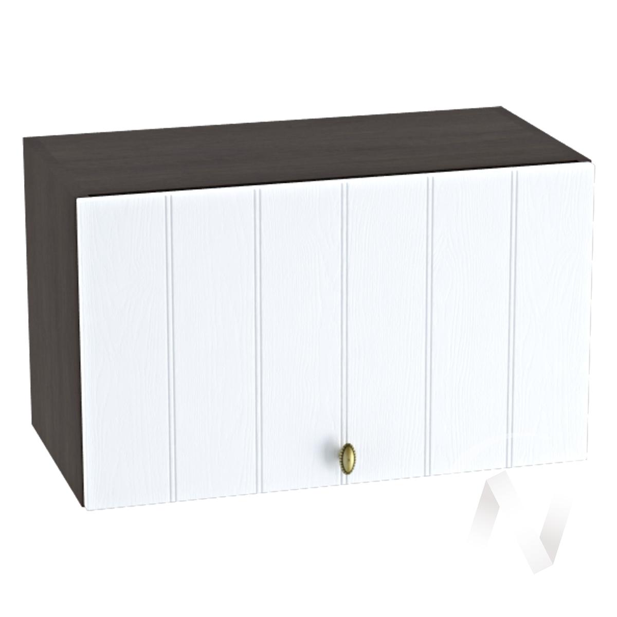 """Кухня """"Прованс"""": Шкаф верхний горизонтальный 600, ШВГ 600 (белое дерево/корпус венге)"""