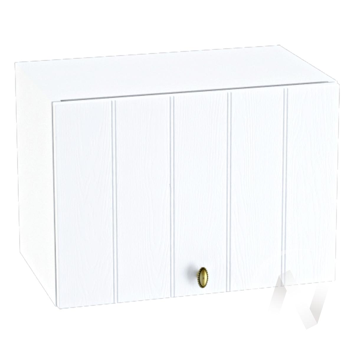 """Кухня """"Прованс"""": Шкаф верхний горизонтальный 500, ШВГ 500 (белое дерево/корпус белый)"""