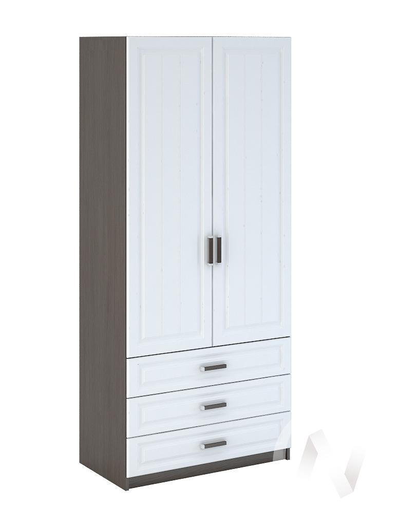 Прага Шкаф 2-х створчатый бельевой с ящиками МДФ (венге/белое дерево) ШК-905  в Томске — интернет магазин МИРА-мебель
