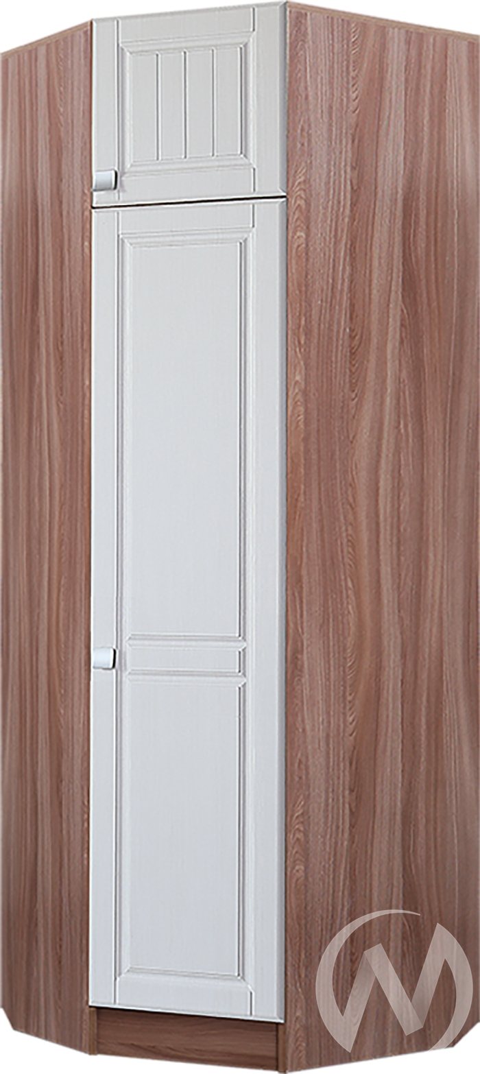 Шкаф угловой Прихожая Вега (ясень шимо темный-рельеф пастель)