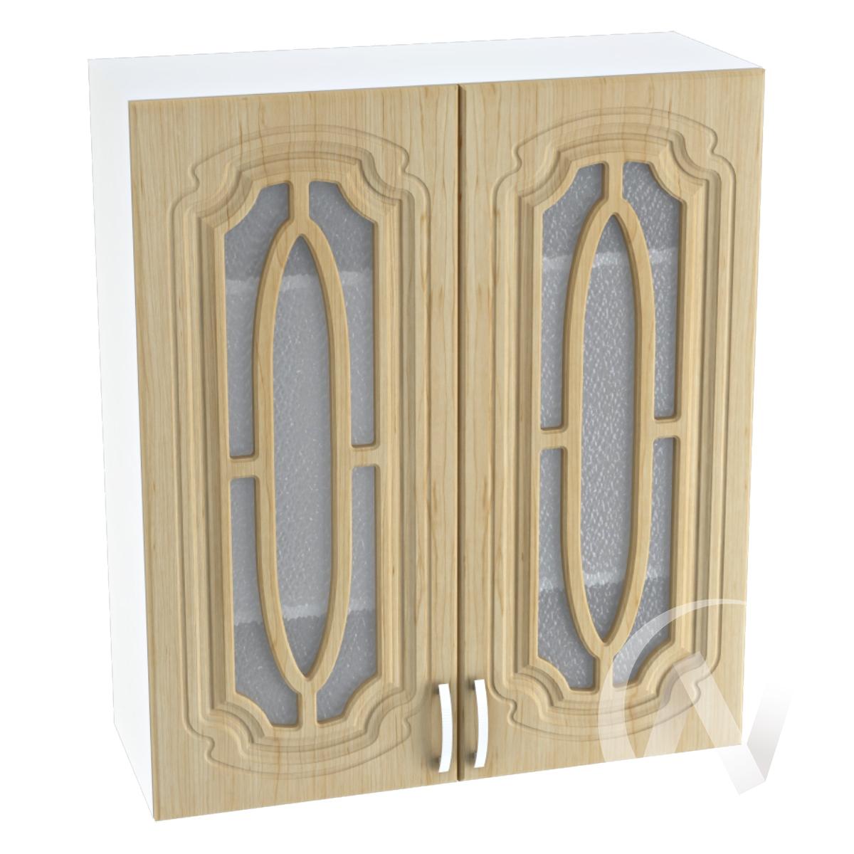 """Кухня """"Настя"""": Шкаф верхний со стеклом 809, ШВС 809 (Береза/корпус белый)"""