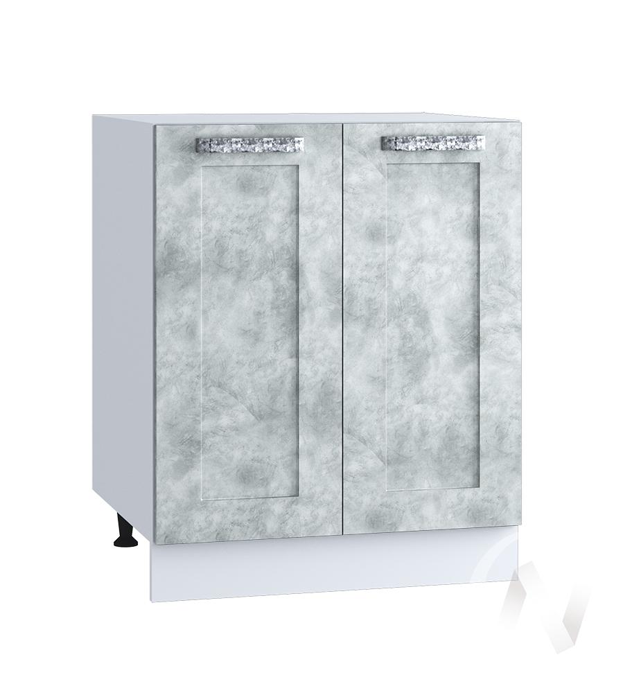 """Кухня """"Лофт"""": Шкаф нижний 600, ШН 600 (Бетон серый/корпус белый)"""