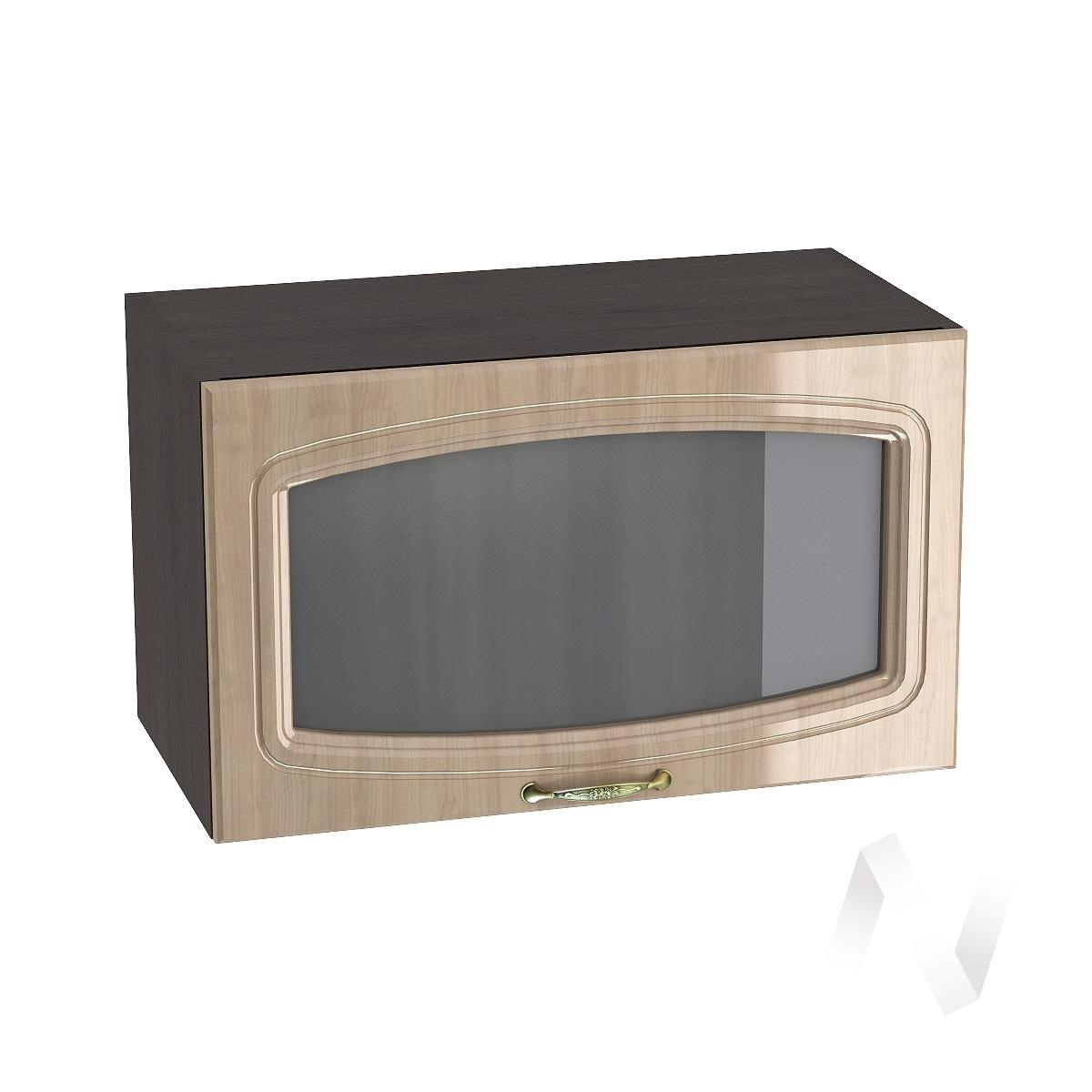 """Кухня """"Сити"""": Шкаф верхний горизонтальный со стеклом 600, ШВГС 600 (корпус венге)"""