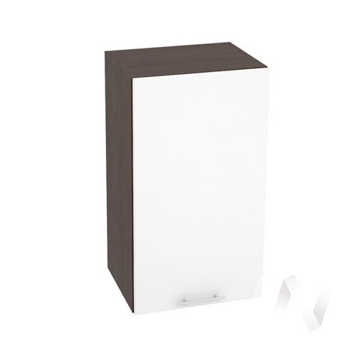 """Кухня """"Валерия-М"""": Шкаф верхний 400, ШВ 400 (белый глянец/корпус венге)"""