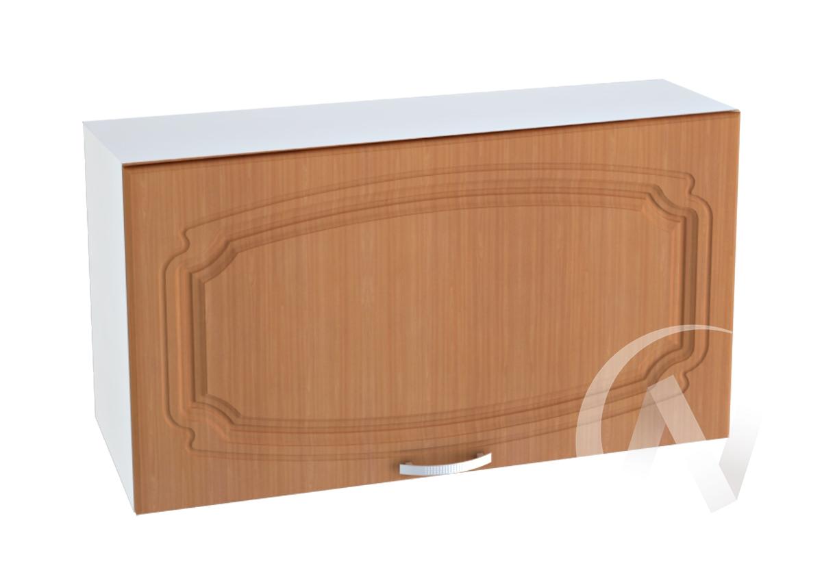 """Кухня """"Настя"""": Шкаф верхний горизонтальный 809, ШВГ 809 (Орех миланский/корпус белый)"""