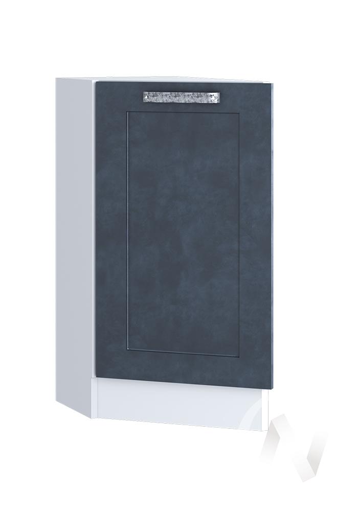 """Кухня """"Лофт"""": Шкаф нижний торцевой 300, ШНТ 300 (Бетон графит/корпус белый)"""