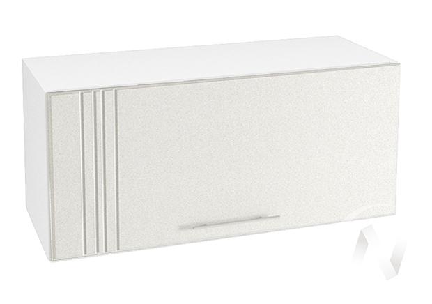"""Кухня """"Струна"""": Шкаф верхний горизонтальный 800, ШВГ 800 (белый металлик/корпус белый)"""