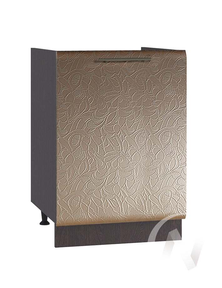 "Кухня ""Люкс"": Шкаф нижний под мойку 500, ШНМ 500 (Гобелен шампань/корпус белый)"