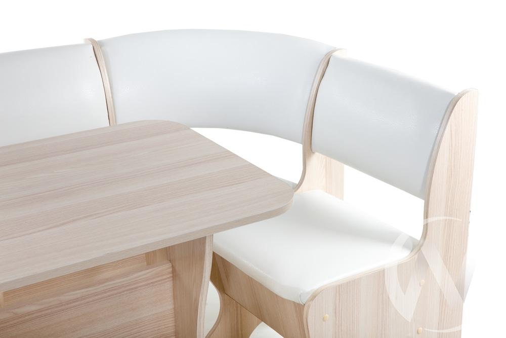 """Набор мебели для кухни """"ТЮЛЬПАН мини"""" -ОДНОТОН (ЯСЕНЬ, борнео милк)  в Томске — интернет магазин МИРА-мебель"""
