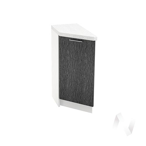 """Кухня """"Валерия-М"""": Шкаф нижний торцевой 300, ШНТ 300 (дождь черный/корпус белый)"""