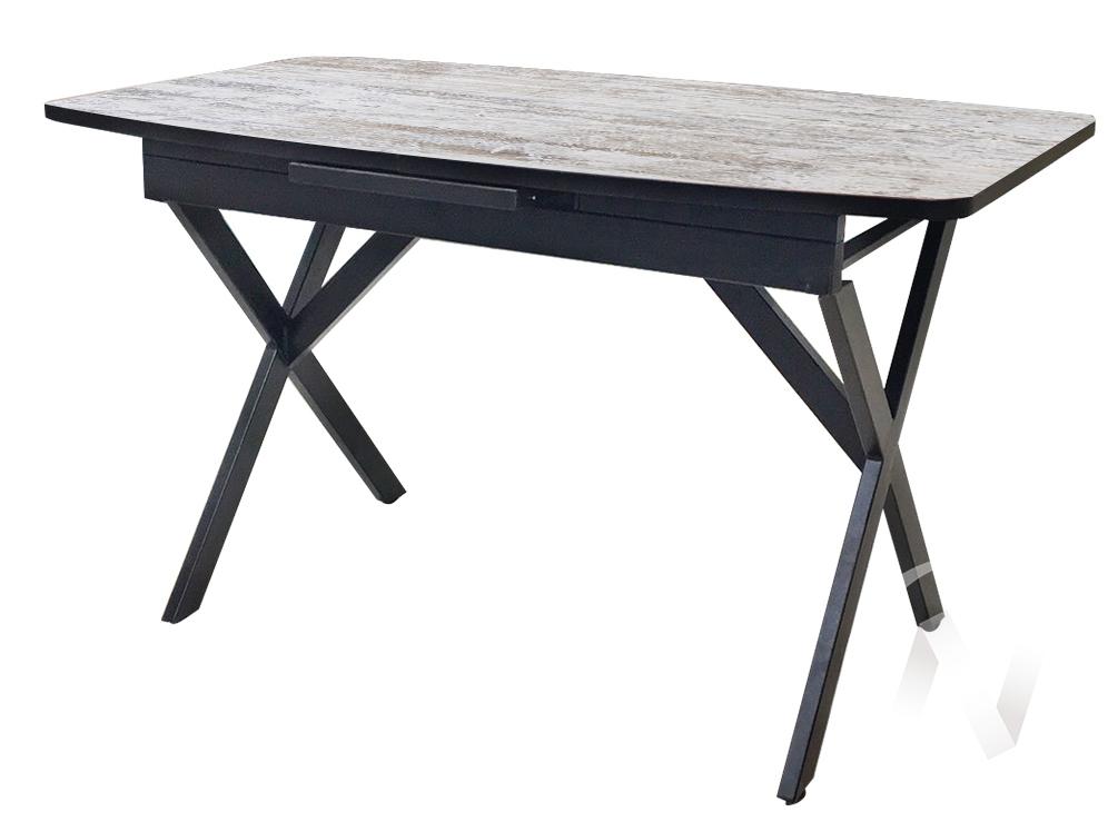 Стол раздвижной Rolf 2 (черный/сосна монрепо/металлокаркас черный) недорого в Томске — интернет-магазин авторской мебели Экостиль