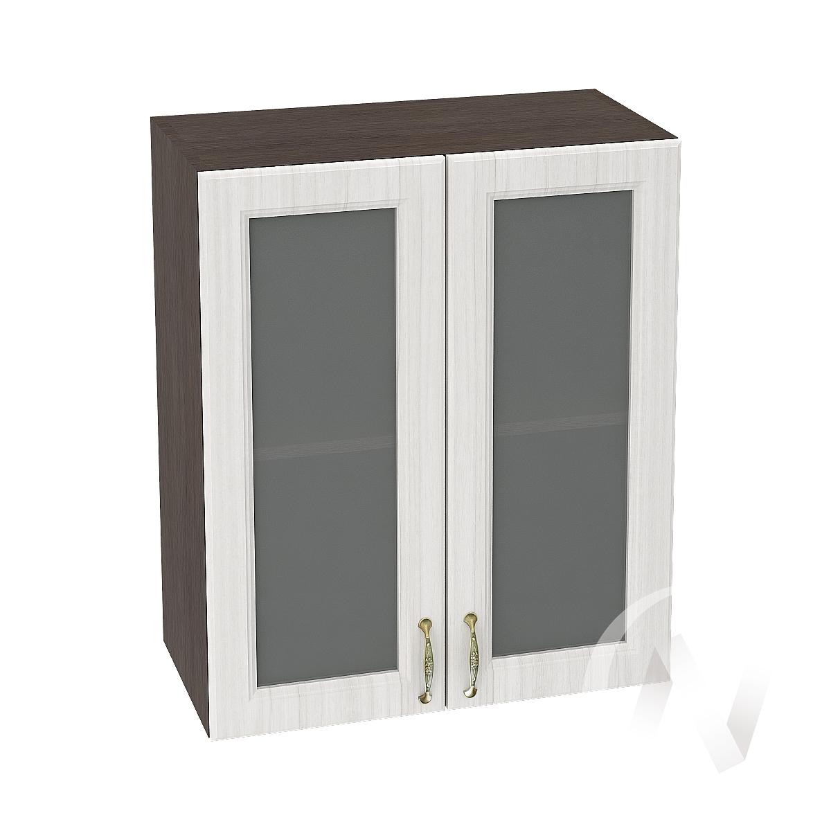 """Кухня """"Виктория"""": Шкаф верхний со стеклом 600, ШВС 600 (корпус венге) в Новосибирске в интернет-магазине мебели kuhnya54.ru"""
