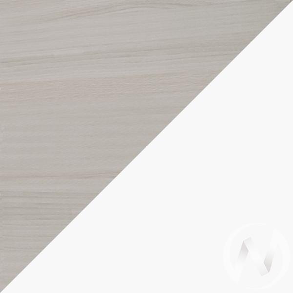 Walker М10 Полка 1 (ясень шимо светлый/белый)  в Томске — интернет магазин МИРА-мебель