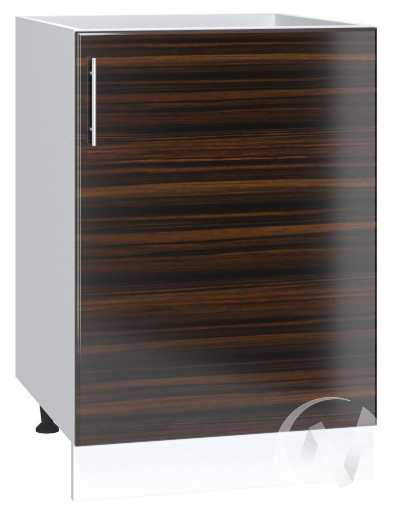 "Кухня ""Норден"": Шкаф нижний под мойку 500, ШНМ 500 (эбен/корпус белый)"