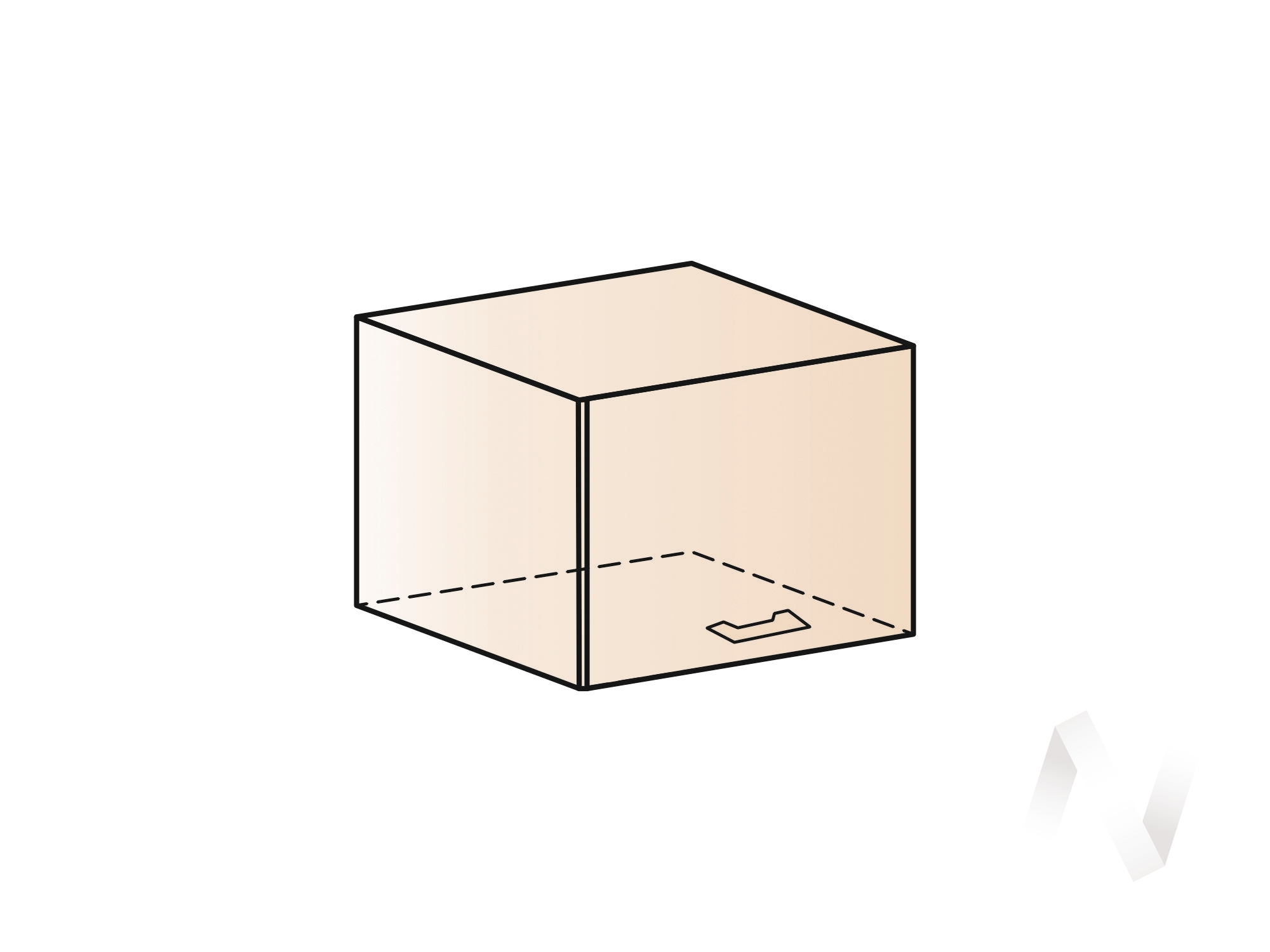 """Кухня """"Люкс"""": Шкаф верхний горизонтальный 500, ШВГ 500 (Шелк венге/корпус венге) в Томске — авторская мебель Экостиль"""