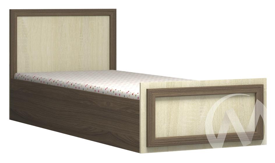 Юнона Кровать 800*2000 (ясень шимо темный/сонома)