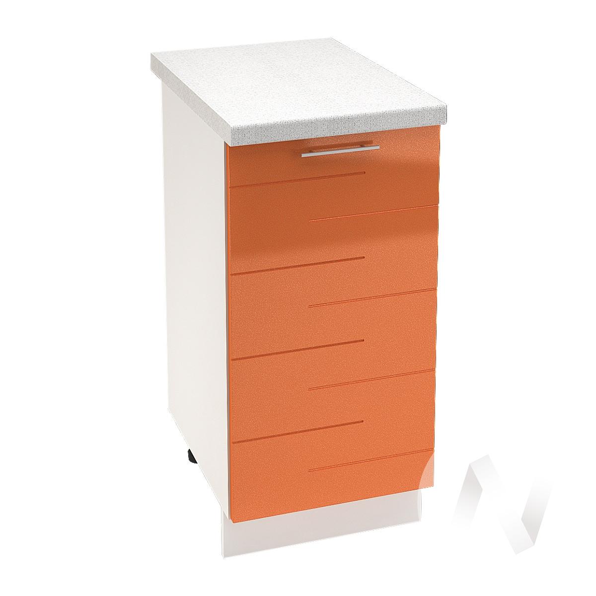 """Кухня """"Техно"""": Шкаф нижний 400, ШН 400 (корпус белый)"""