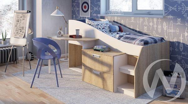 Кровать детская Скаут NEW 1,9м (дуб сонома/белый)