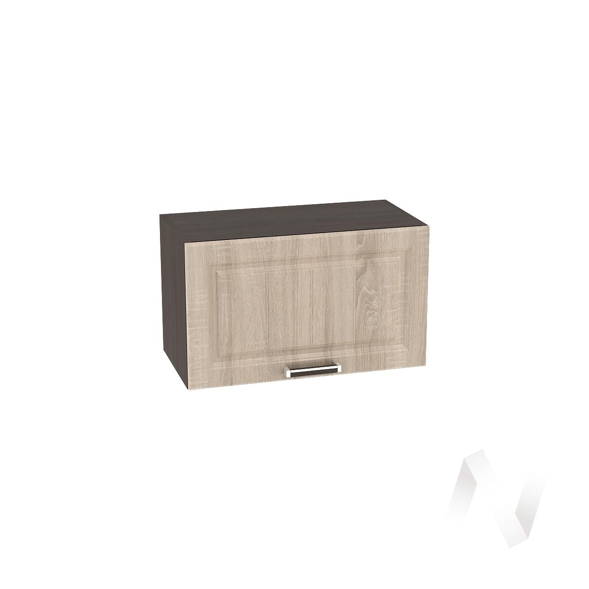 """Кухня """"Прага"""": Шкаф верхний горизонтальный 600, ШВГ 600 (дуб сонома/корпус венге)"""