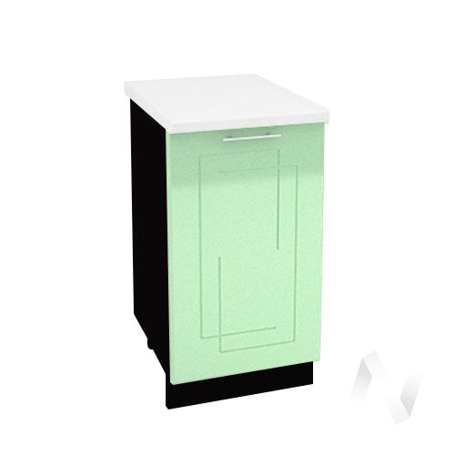 """Кухня """"Вега"""": Шкаф нижний 450, ШН 450 (салатовый металлик/корпус венге)"""
