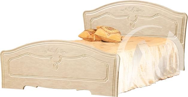 Лира Кровать 1,4 (бодега бежевый/жемчуг глянец)