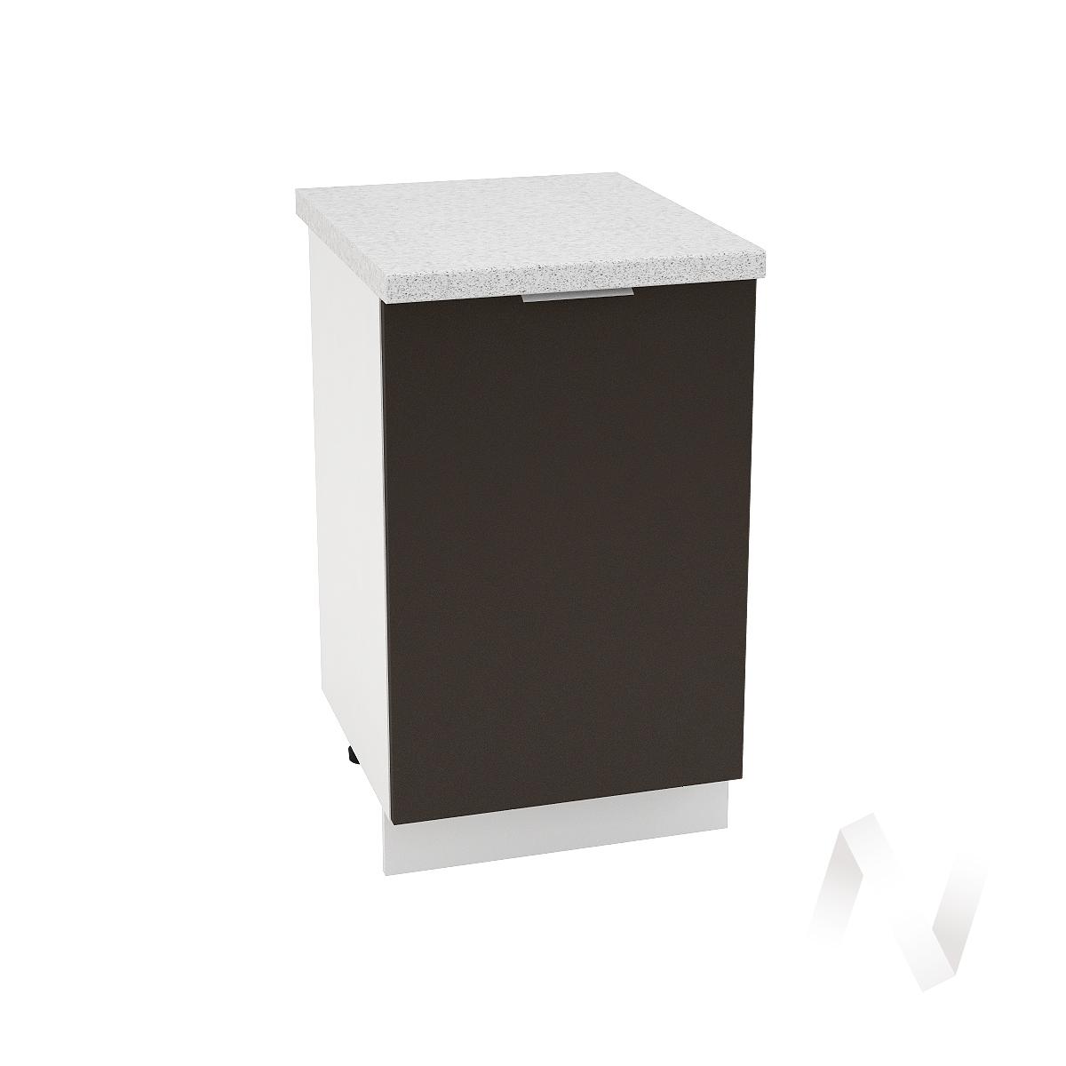 "Кухня ""Терра"": Шкаф нижний 500, ШН 500 (смоки софт/корпус белый)"